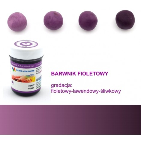 FOOD COLOURS BARWNIK W ŻELU FIOLET 35 GR
