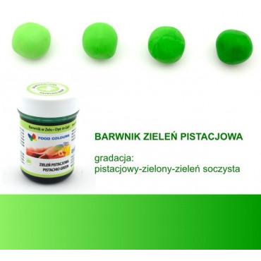 FOOD COLOURS BARWNIK W ŻELU ZIELEŃ PISTACJOWA 35 GR