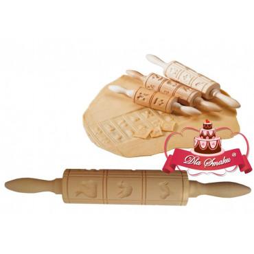 Wałek drewniany do ciastek SPRINGERLE - 15.5 cm Birkmann