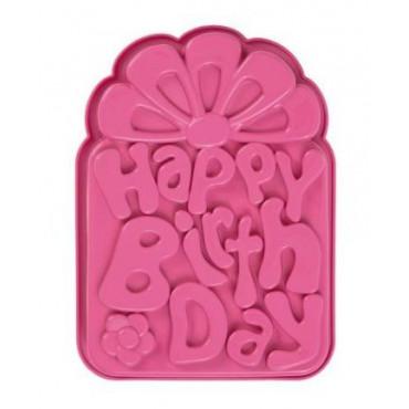 PAVONI FORMA SILIKONOWA DO CIASTA DESERÓW HAPPY BIRTHDAY