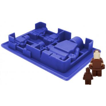 FORMA SILIKONOWA DO CZEKOLADEK LODU LUDZIKI LEGO MAŁE I DUŻY