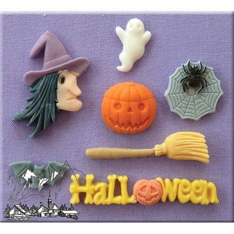 ALPHABET MOULDS FORMA SILIKONOWA HALLOWEEN AM0040