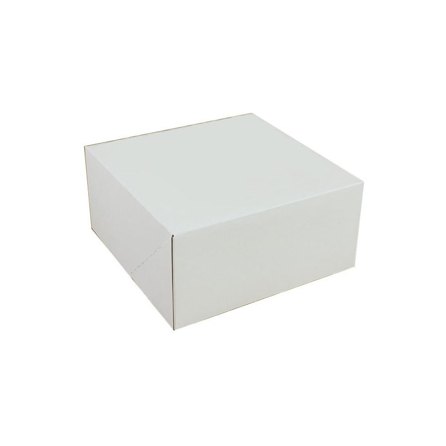 PUDEŁKO NA TORT BIAŁE 25X25X12
