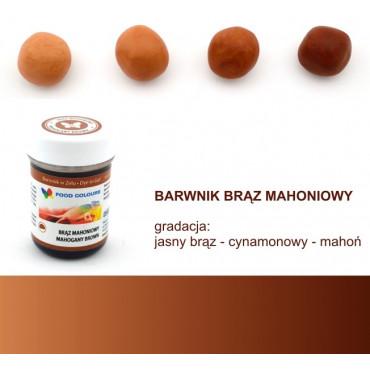 FOOD COLOURS BARWNIK W ŻELU BRĄZ MAHONIOWY 35 GR