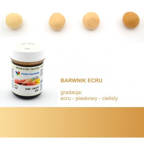 FOOD COLOURS BARWNIK W ŻELU ECRU CIELISTY 35 GR
