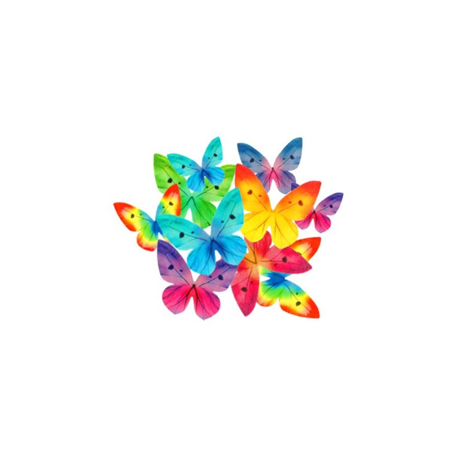 Motyle waflowe 3D MIX KOLOR 10 szt