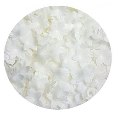 Kwiatki waflowe MINI BIAŁE 50szt