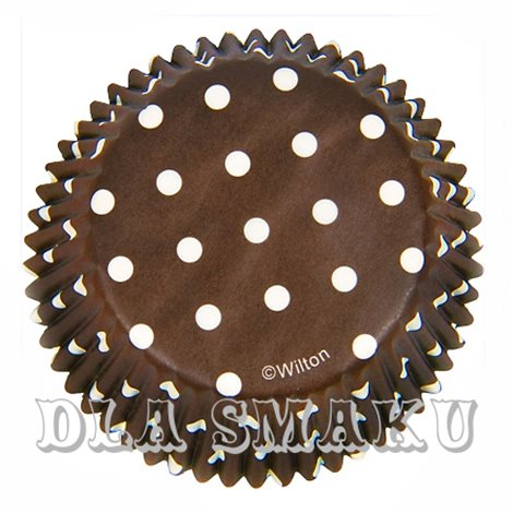 Papilotki Brown Polka do muffinek Wilton 75 szt