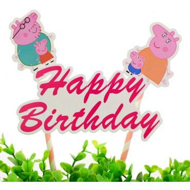 Toppery na tort urodzinowy Świnka Peppa