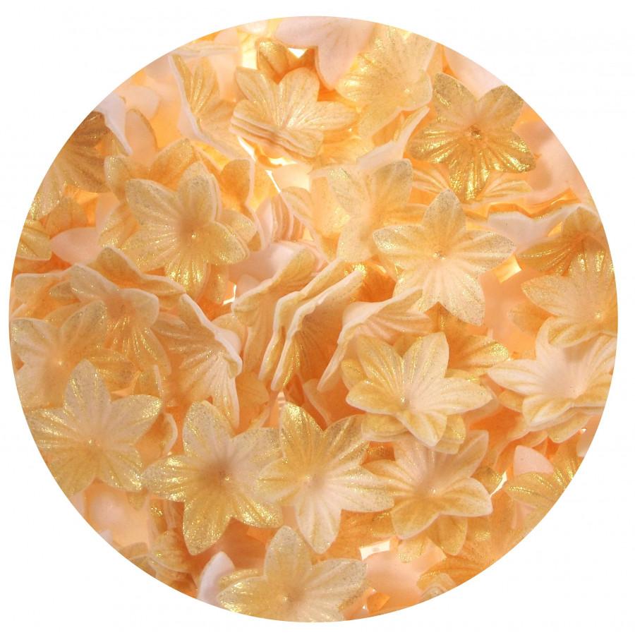 Kwiatki waflowe MINI ZŁOTE 50szt