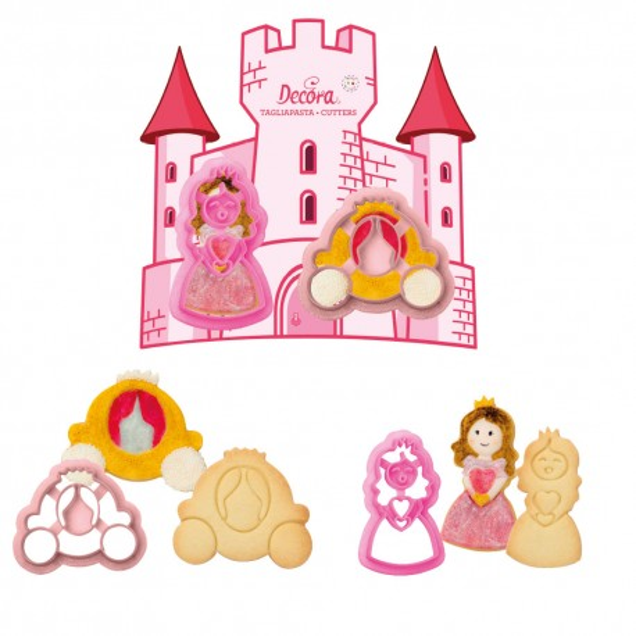 Foremki do ciastek Księżniczka Kareta 2szt Decora