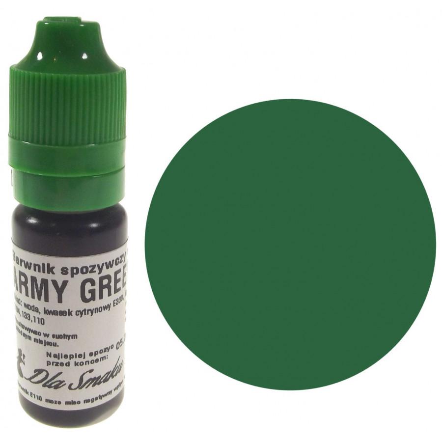 Barwnik spożywczy w płynie zielony ARMY GREEN 20ml Dla Smaku