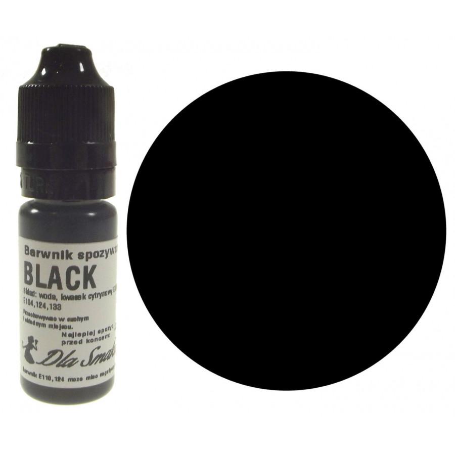 Barwnik spożywczy w płynie czarny BLACK 20ml Dla Smaku