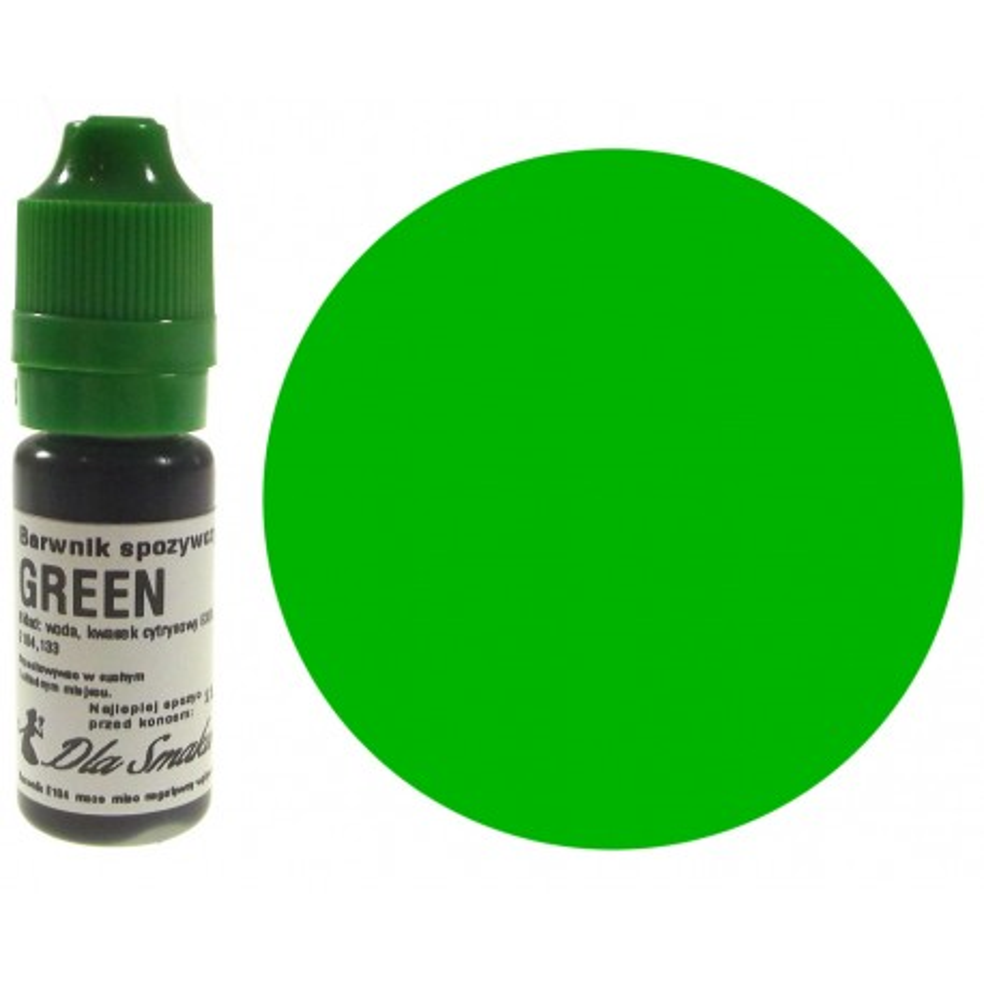 Barwnik spożywczy w płynie zielony GREEN 20ml Dla Smaku