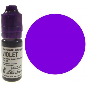 Barwnik spożywczy w płynie fioletowy VIOLET 20ml Dla Smaku