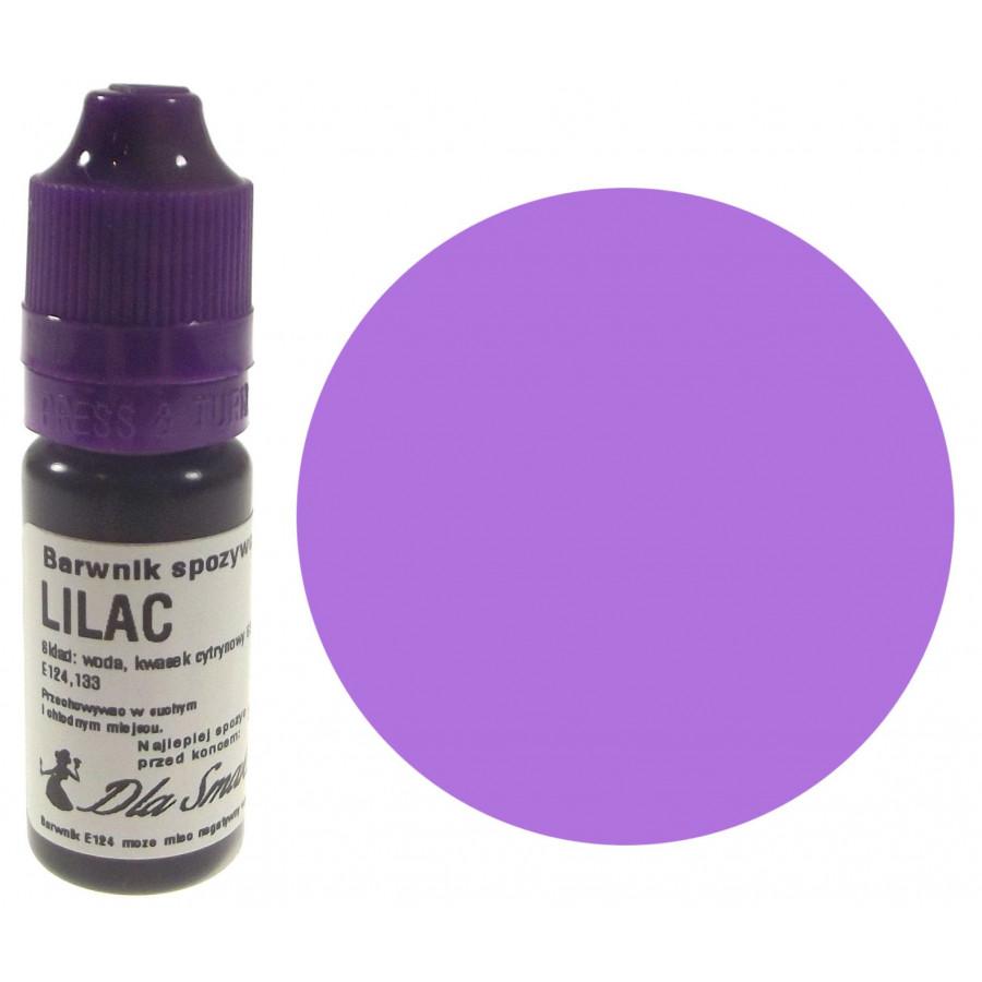 Barwnik spożywczy w płynie liliowy LILAC 20ml Dla Smaku