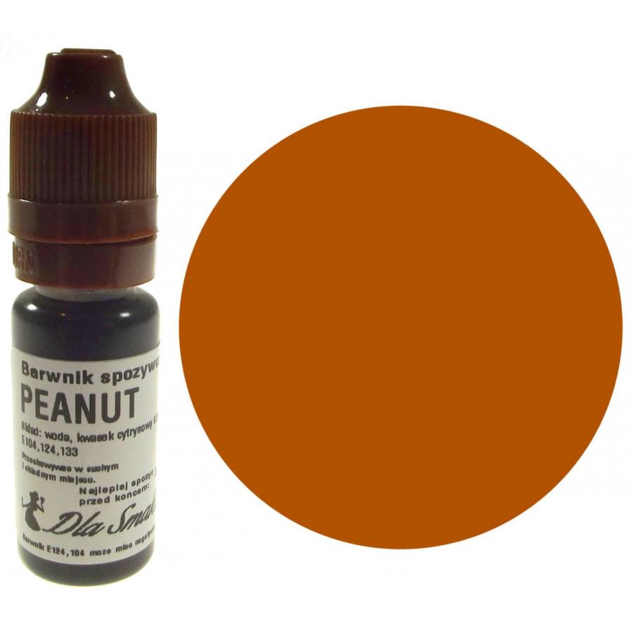 Barwnik spożywczy w płynie orzeszkowy PEANUT 20ml Dla Smaku