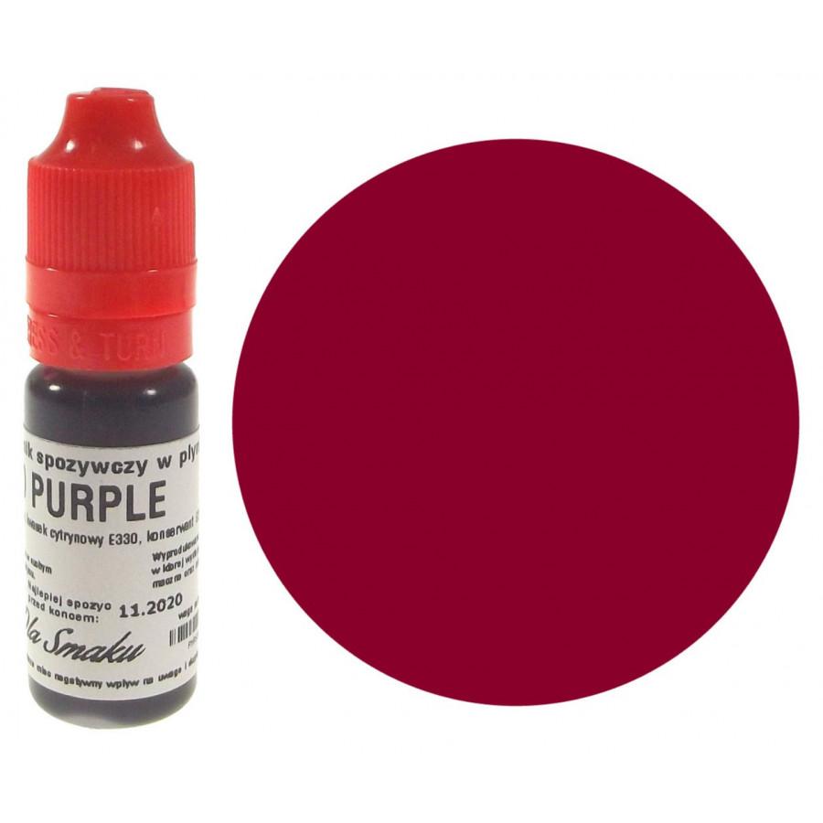 Barwnik spożywczy w płynie purpurowa czerwień RED PURPLE 20ml Dla Smaku