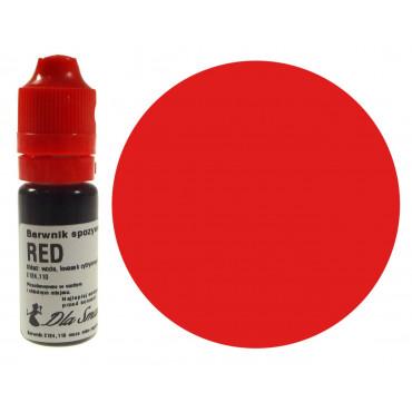 Barwnik spożywczy w płynie czerwony RED 20ml Dla Smaku