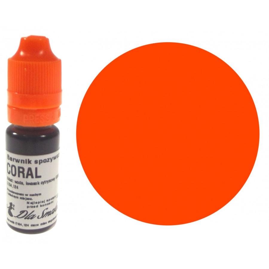 Barwnik spożywczy w płynie koralowy CORAL 20ml Dla Smaku