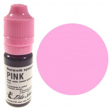 Barwnik spożywczy w płynie różowy PINK 20ml Dla Smaku