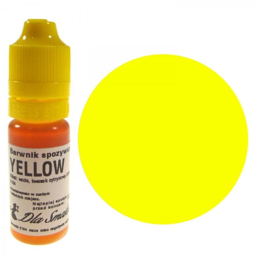 Barwnik spożywczy w płynie żółty YELLOW 20ml Dla Smaku