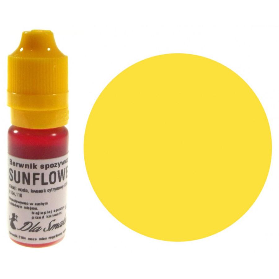 Barwnik spożywczy w płynie słonecznik SUNFLOWER 20ml Dla Smaku