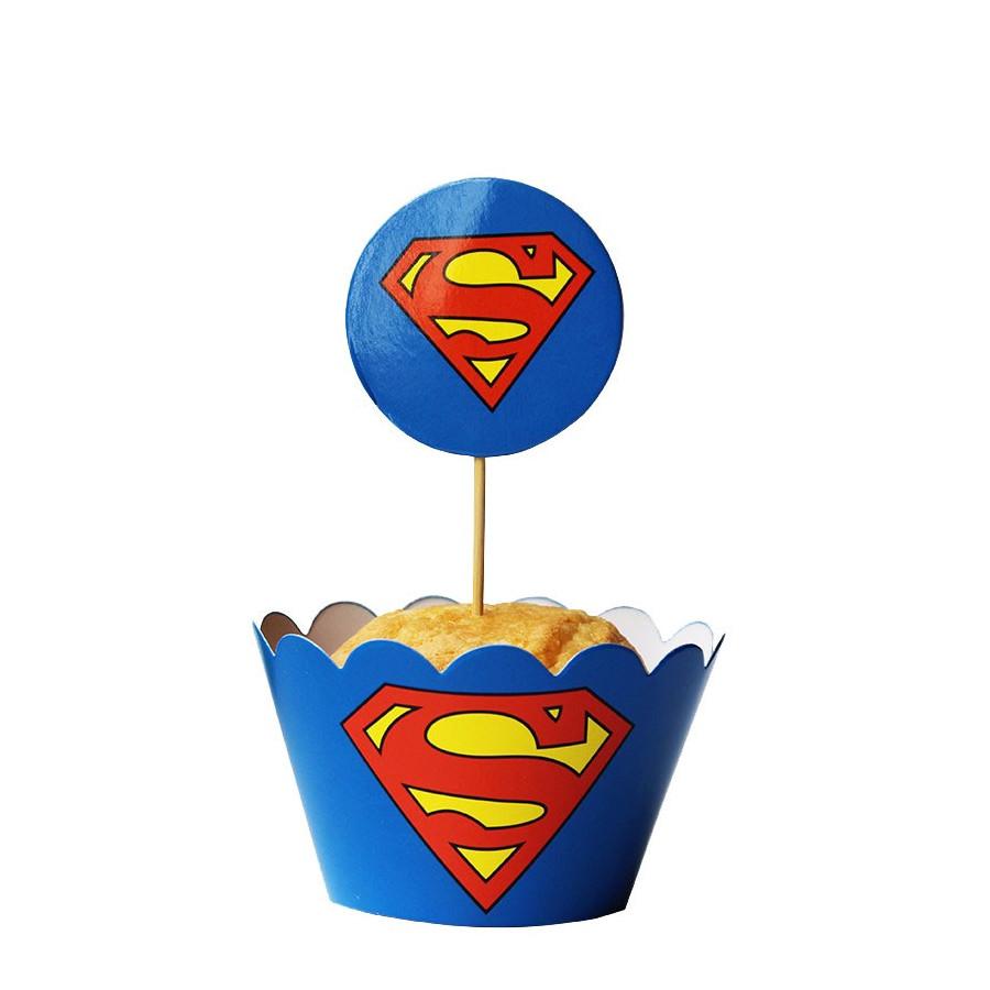 NAKŁADKI OWIJKI DO BABECZEK Z DEKORACJAMI SUPERMAN 24SZTUKI