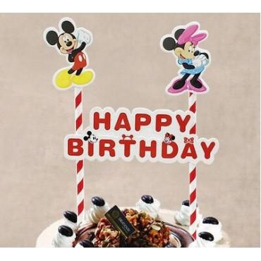 Topper na tort urodzinowy MYSZKA MICKEY MIKI MINNIE