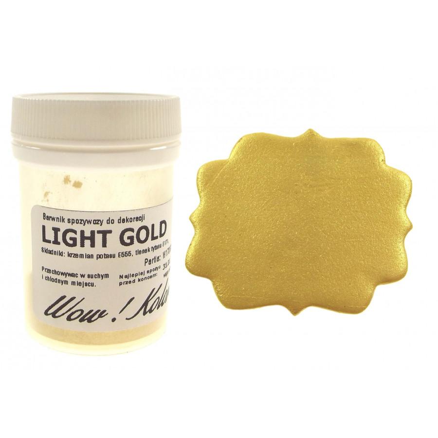 WOW KOLOR SUPER LIGHT GOLD BROKAT BARWNIK SPOŻYWCZY KRYJĄCY