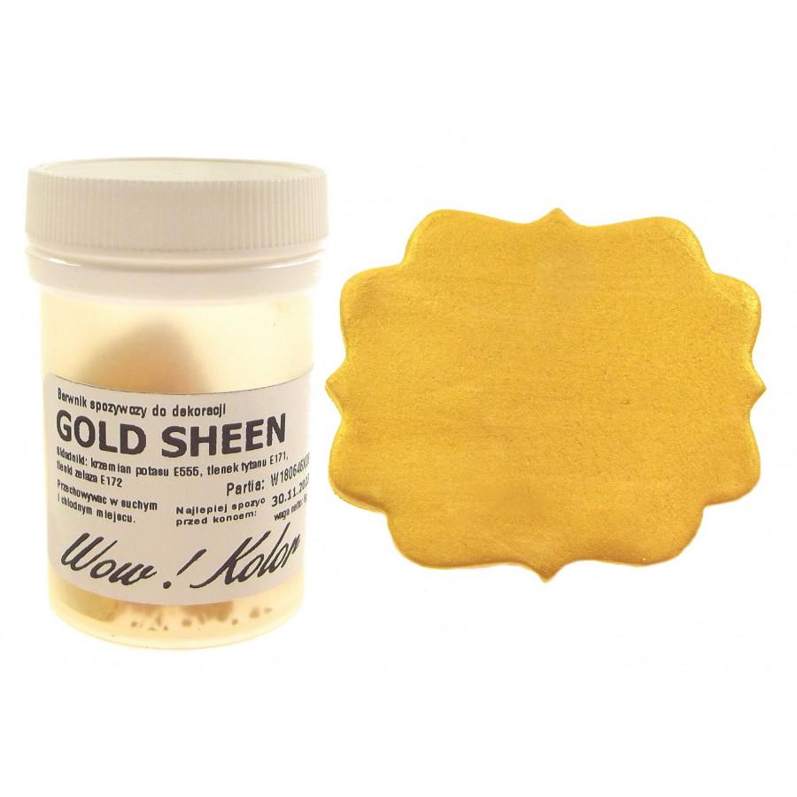 WOW KOLOR SUPER GOLD SHEEN BROKAT BARWNIK SPOŻYWCZY KRYJĄCY