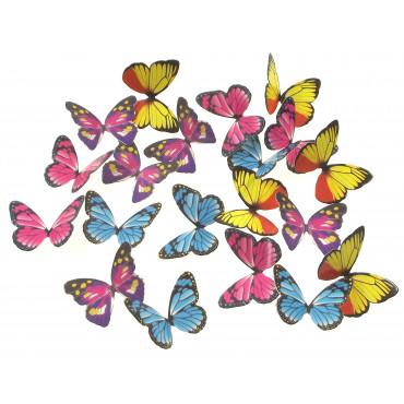 Motyle 3D do dekoracji 20szt MIX motyl SweetB