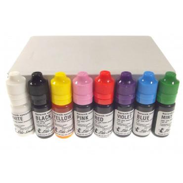 Zestaw barwników spożywczych w płynie 8sztuk kolorów x 20ml