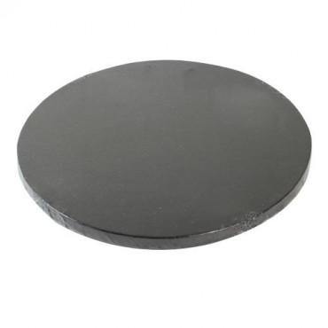 Podkład okrągły CZARNY GRUBY 30cm pod tort DRUM