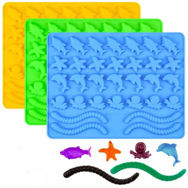 Forma silikonowa do dekoracji żelki RYBKI SEA LIFE