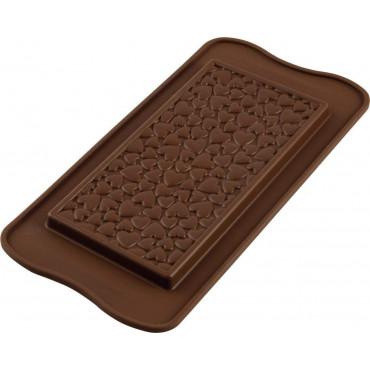 Forma silikonowa tabliczka czekolady SERCA