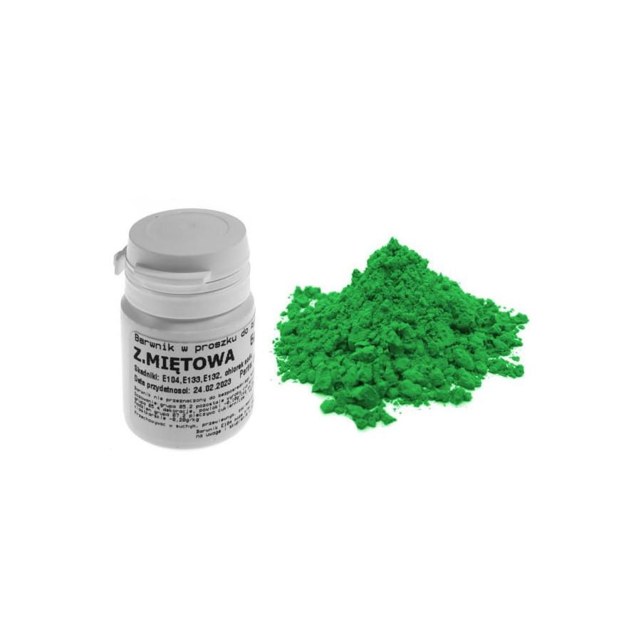 Barwnik zielony miętowy w proszku 5 gr barwniki spożywcze