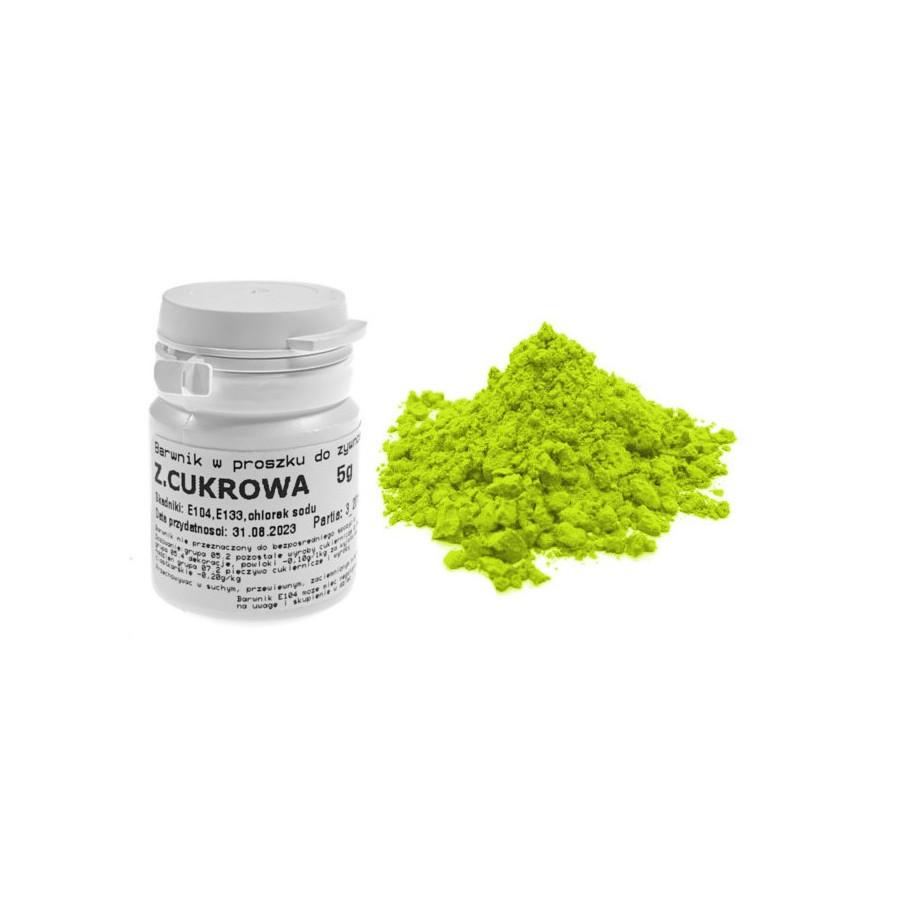 Barwnik zielony cukrowy w proszku 5g barwniki spożywcze