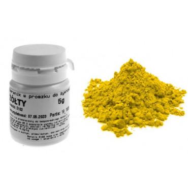 Barwnik żółty w proszku 5g barwniki spożywcze