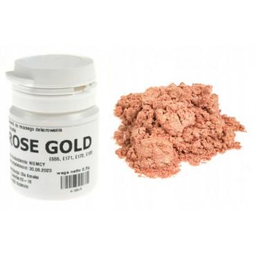 Brokat jadalny ROSE GOLD barwnik spożywczy