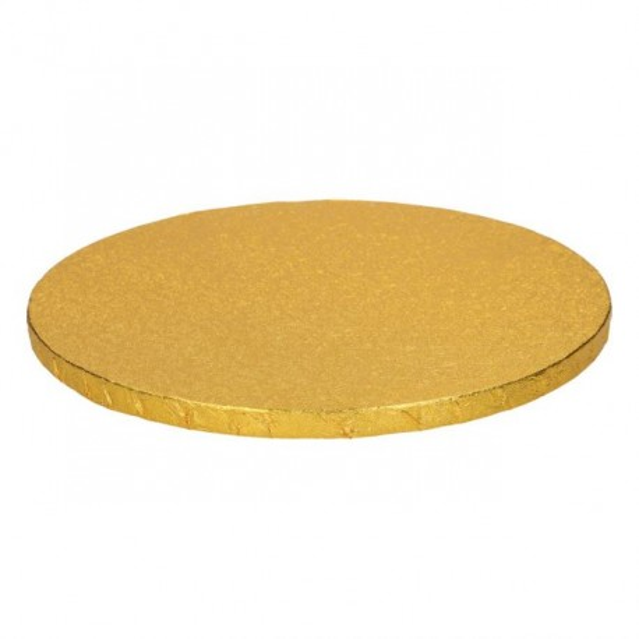 Podkład okrągły ZŁOTY GRUBY 30cm pod tort DRUM