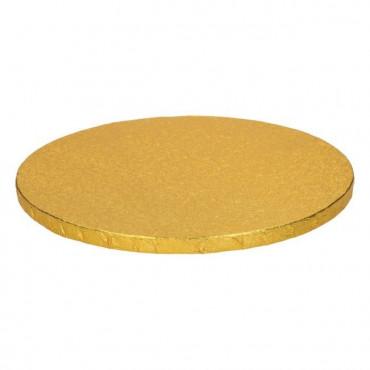 Podkład okrągły ZŁOTY GRUBY 25cm pod tort DRUM