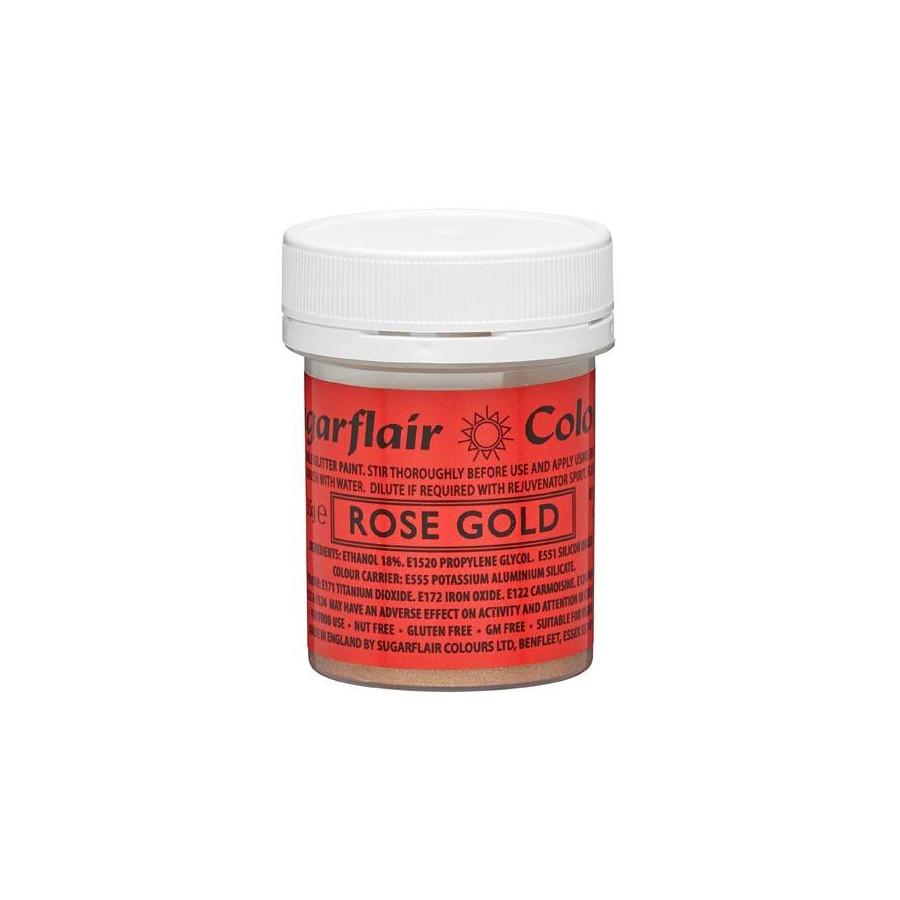 Farbka jadalna do malowania błyszcząca ROSE GOLD SUGARFLAIR 35g