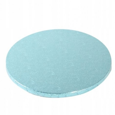 Podkład okrągły BŁĘKITNY GRUBY 30cm pod tort DRUM