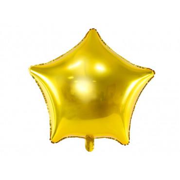 Balon foliowy GWIAZDKA ZŁOTA 019