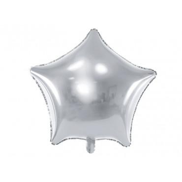 Balon foliowy GWIAZDKA SREBRNA 018