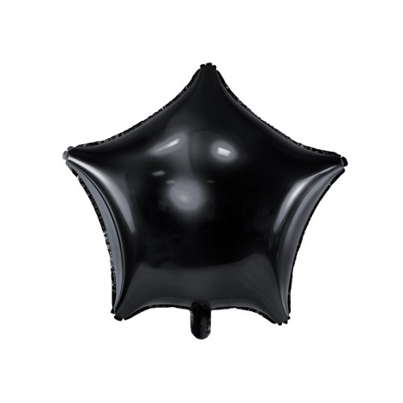 Balon foliowy GWIAZDKA CZARNA 010