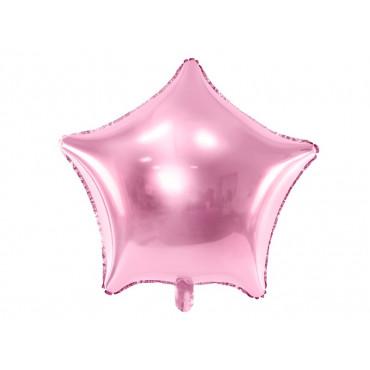 Balon foliowy GWIAZDKA RÓŻOWA 081J