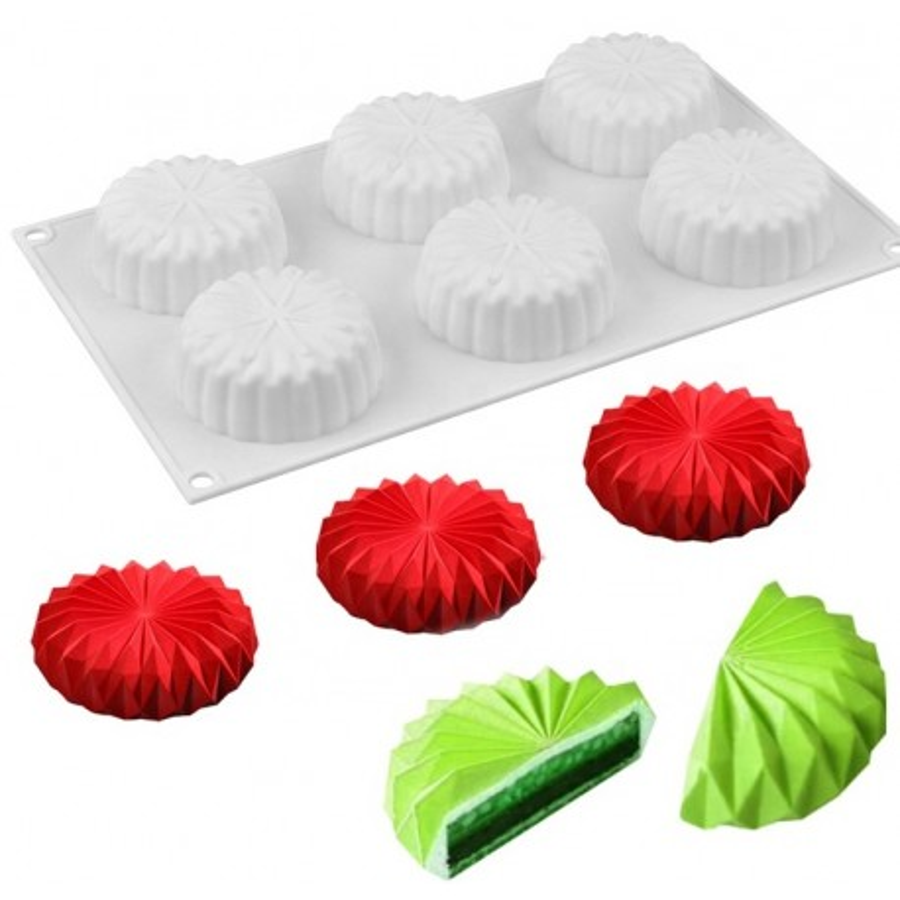 Forma silikonowa do ciastek MINI WACHLARZ 6gn 3D