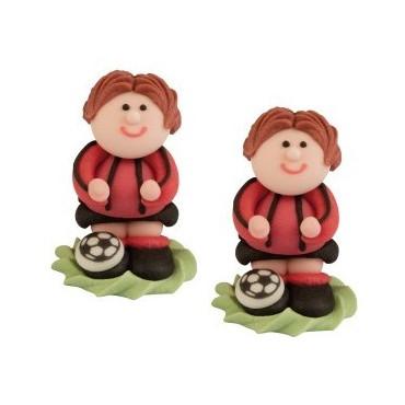 Piłkarz cukrowy 3D Milan czerwony/czarny